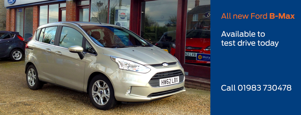 Test drive the all new Ford B-Max today